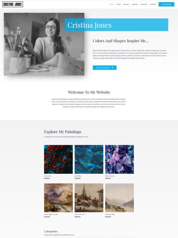 artist christine home page 600x800 1